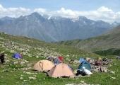 Първи лагер на 2 950 м.