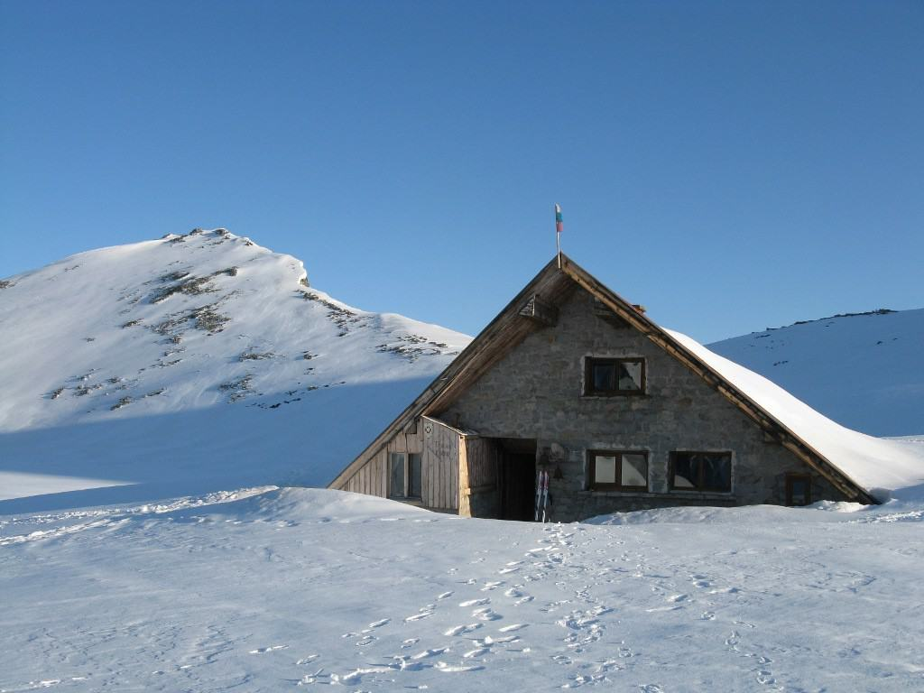 Tevno Lake Hut in Pirin Mountains