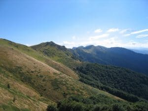 The main ridge of Balkan Mountains