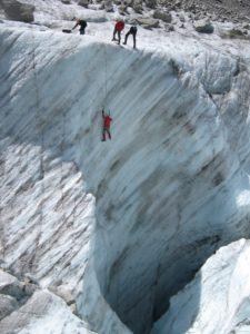 Тренировка върху ледник