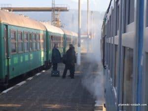 The narrow gauge train Septemvri-Dobrinishte