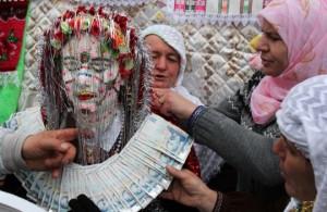 White brides in Ribnovo, Rhodope Mountains