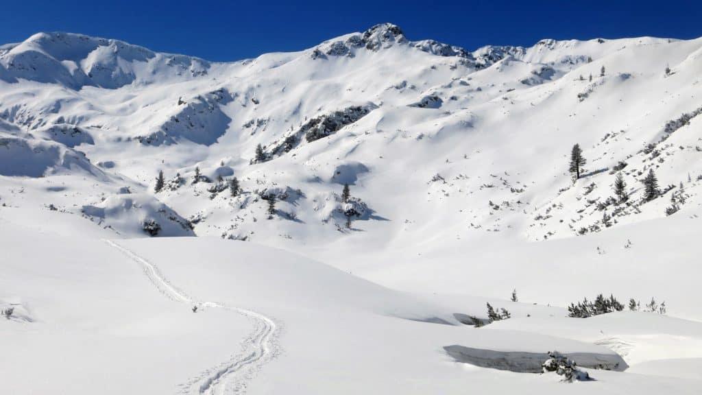 Snowshoeing near Vihren Hut