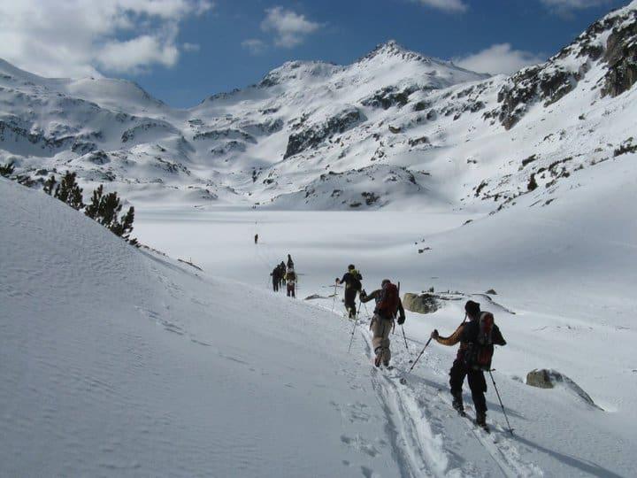 Със ски покрай Попово езеро