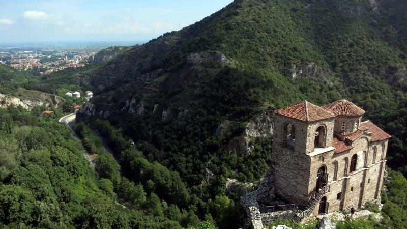 Asenova Fortress and the town of Assenovgrad