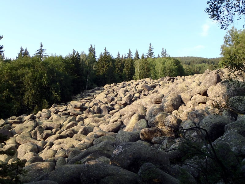 "The moraines of the so called ""Rock River"" near the Golden Bridges area of Vitosha"