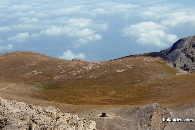 View towards the Plateau of Muses from Stefani