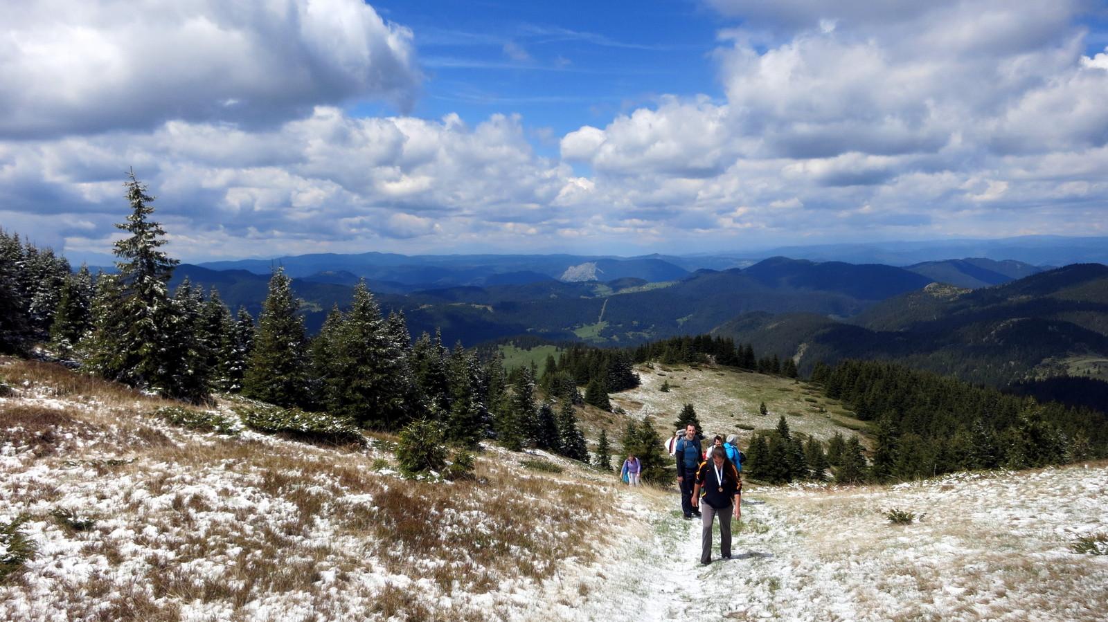 Walking to the top of Mount Karluk near Gela