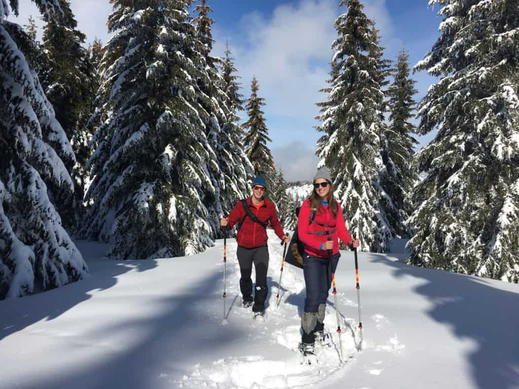 Snowshoeing near Sofia in Vitosha Mountains