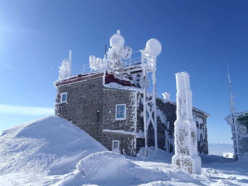 The meteo station on the top of Vitosha - Mount Cherni Vruh