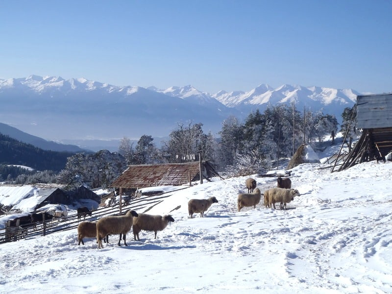 The most southwestern parts of the Rhodopes have great views towards Pirin Mountains