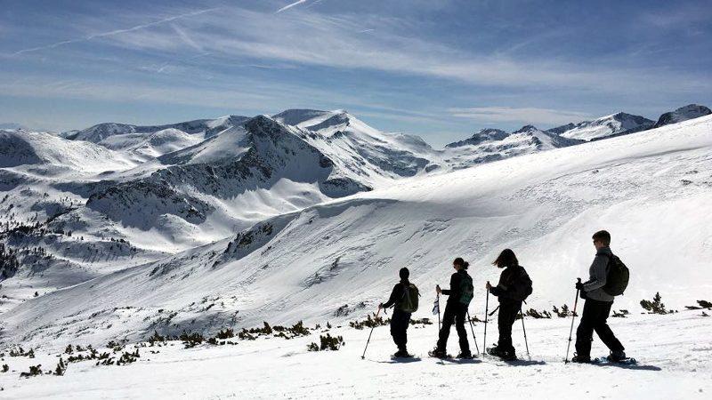 Snowshoeing the peak of Bezbog