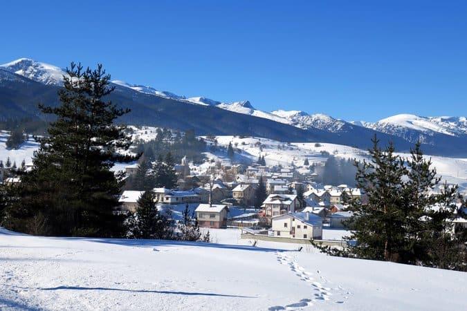 Govedarsti Village, Rila, in winter