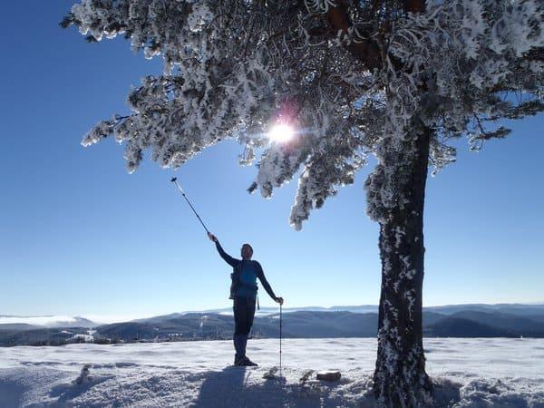 Snowshoeing Ortsevo area near Bansko