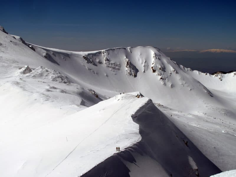 Ski touring above Yavorov Hut
