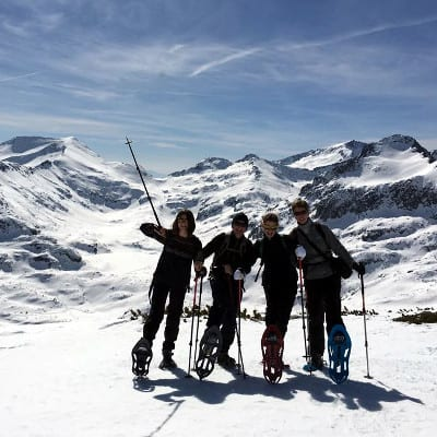 Snowshoeing to Bezbog peak