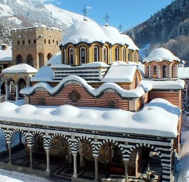 Rila Monastery snowshoeing