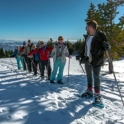 Vitosha snowshoeing