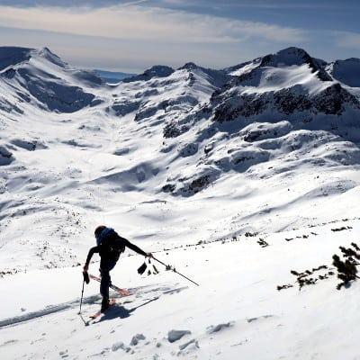 Ski touring in Pirin Mountains