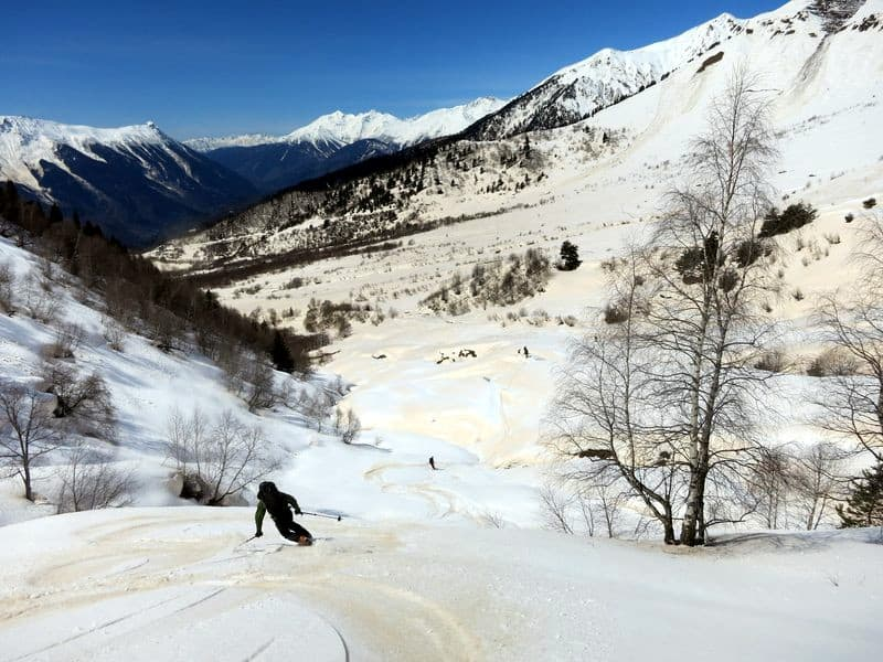 Ski touring in Svaneti Georgia