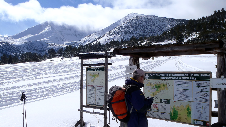 Връх Шатър със снегоходки